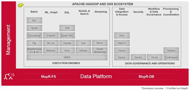 состав архитектура модули MapR Convergent Data Platform
