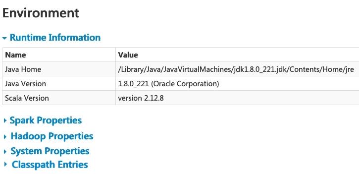 Apache Spark GUI
