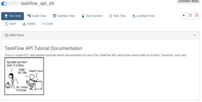 Скриншот веб-сервера с шаблоном DAG (Apache Airflow)